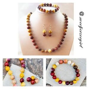Mookaite Jasper 3pc Jewelry Set